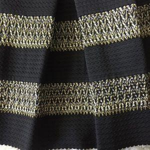 4a3b0749d Ginger G Skirts | Black Metallic Ponte Skirt | Poshmark